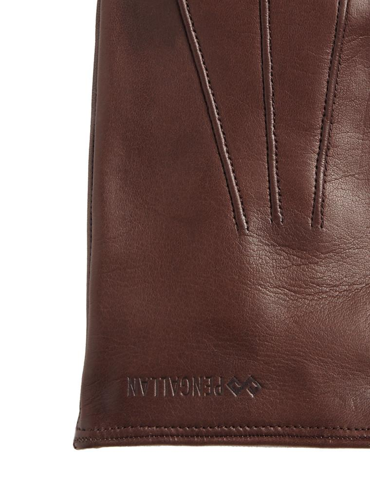 Men's Leather Gloves | Brown Italian Leather Genius Gloves | Pengallan