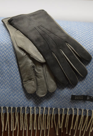 Navy/Grey Leather Genius Gloves