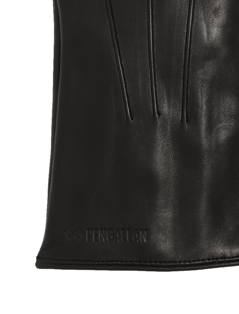 Men's Leather Gloves | Black Italian Leather Genius Gloves | Pengallan
