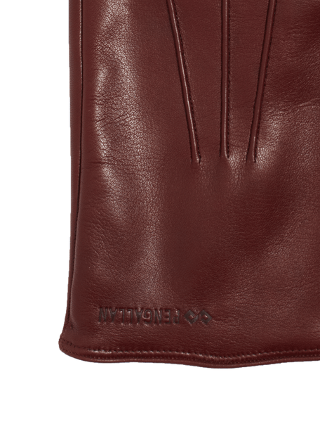 Men's Leather Gloves | Ox Blood Italian Leather Genius Gloves | Pengallan