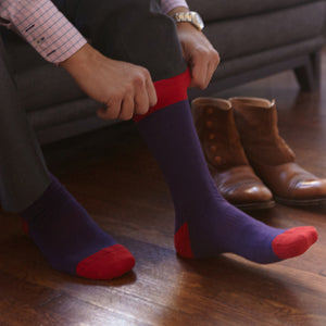 Men's Socks | Purple Solid Serious Socks | Pengallan