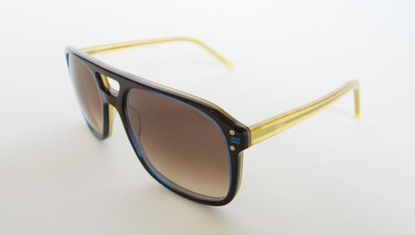 Men's Designer Eyewear | Selima Optique Evan Sunglasses | Chocolate Honey | Pengallan