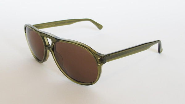 Men's Designer Eyewear | Selima Optique Money 2 Sunglasses | Olive Crystal | Pengallan