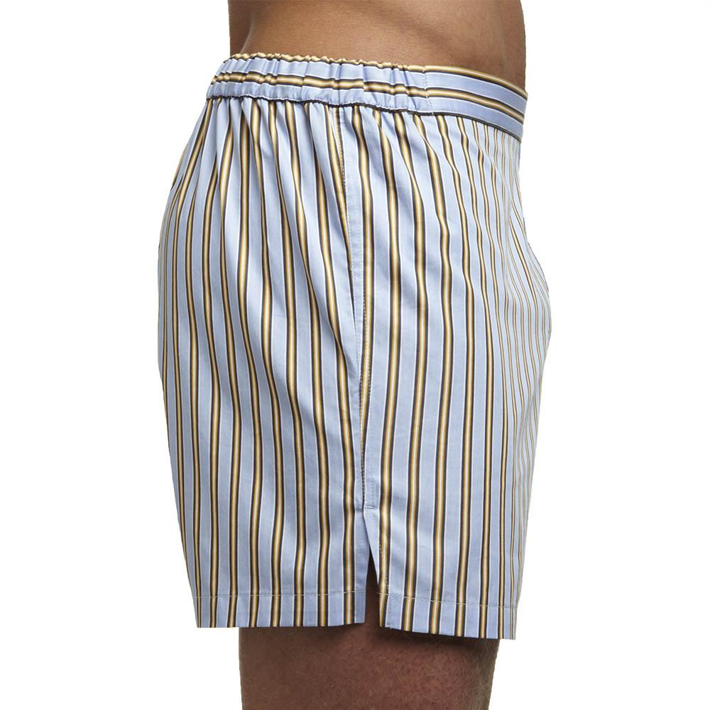 Men's Designer Underwear | Slim-Fit Boxers Blue/Orange Stripe | Pengallan