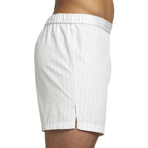 Men's Designer Underwear | Slim-Fit Boxers Grey/White Stripe | Pengallan