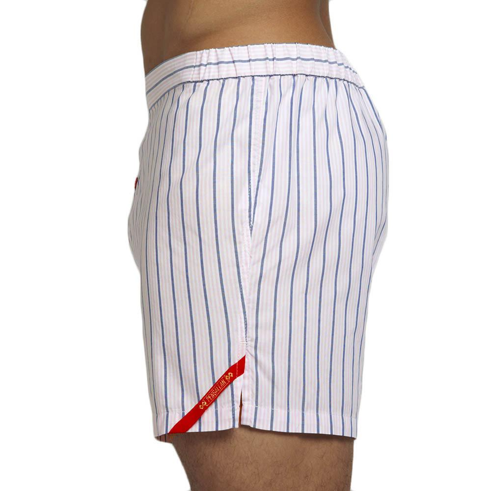 Men's Designer Underwear | Slim-Fit Boxers Pink/Navy Stripe | Pengallan