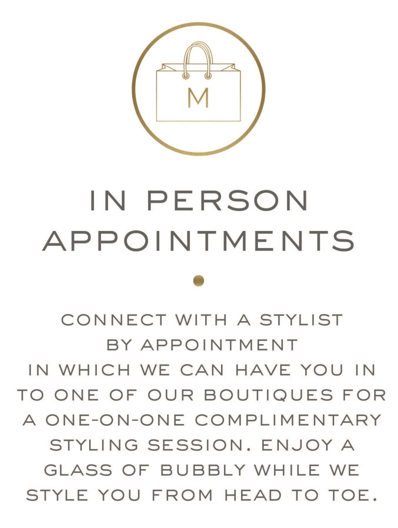 in person appointment