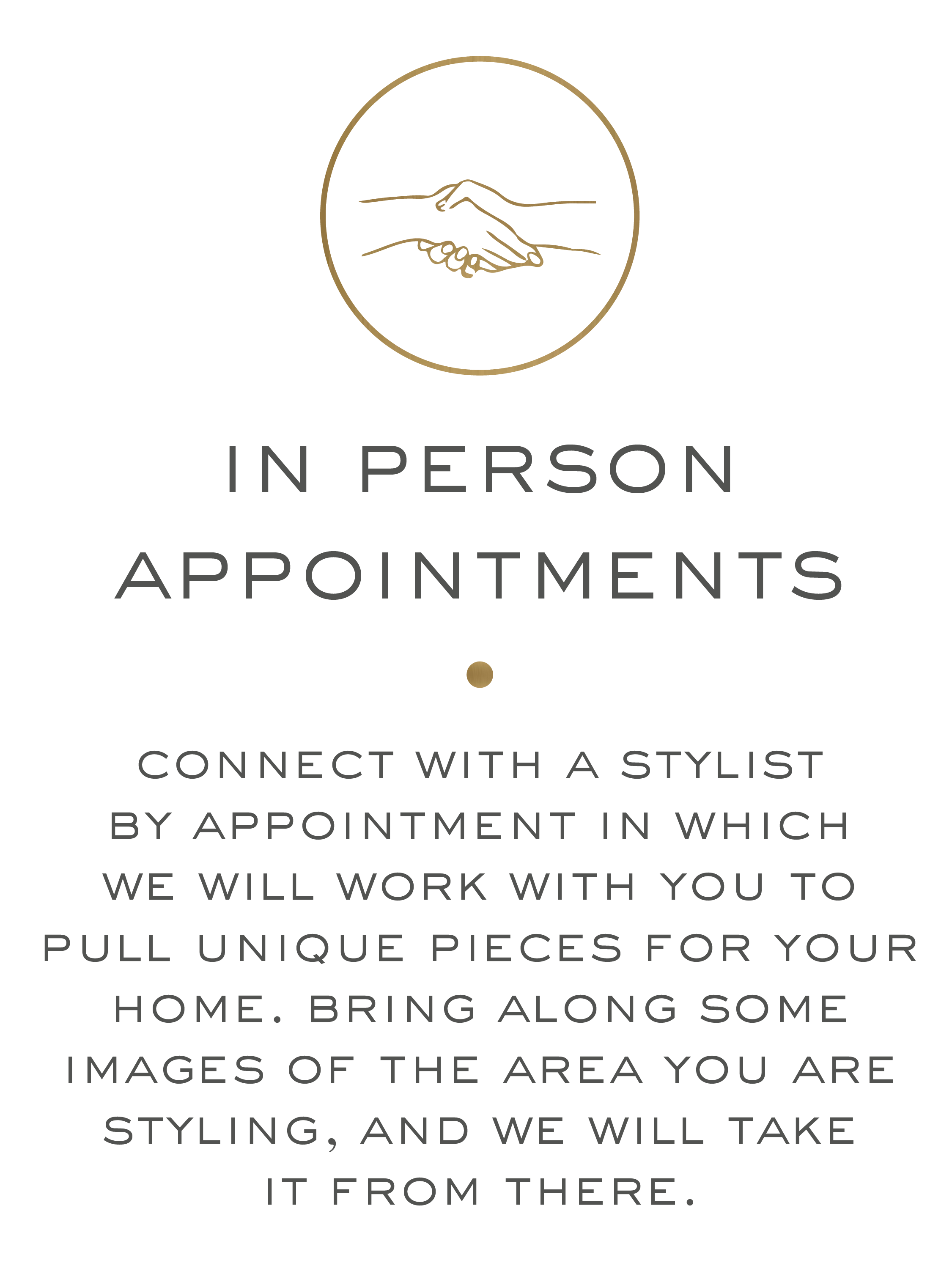 in person appointments