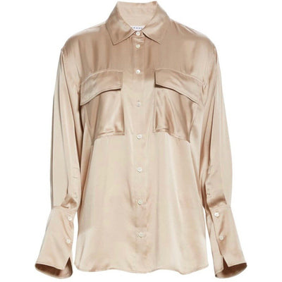 FRAME BLOUSE BARE BOYFRIEND SHIRT