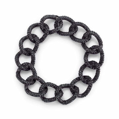 SHERYL LOWE DIAMOND BRACELET BLACK LONDON LINK BRACELET