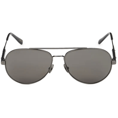 BOTTEGA VENETA OVAL AVIATOR SUNGLASSES