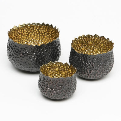 BUBBLE BRASS BOWLS (SET OF 3)