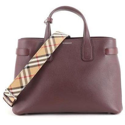 BURBERRY SMALL WITH BURBERRY PATTERN STRAP