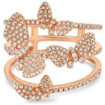 BUTTERFLIES RING- ROSE GOLD - Shop Marcus