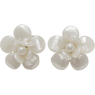 CAMELLIA CLIP EARRINGS - Shop Marcus
