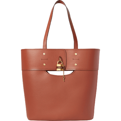 Chloe Abby Lock Shopper Tote - Sepia