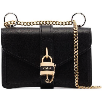 CHLOE LX LIVE CHLOE MINI PAD LOCK ABBY BAG - BLACK