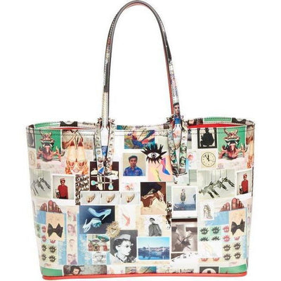 CHRISTIAN LOUBOUTIN LX LIVE Christian Louboutin Cabata Collage Patent White Multi Leather Tote