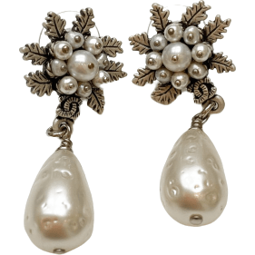 Crystal Flower Dangle Earring - Shop Marcus