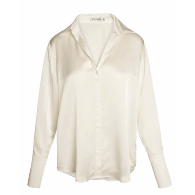 Daria Blouse - White Charmeuse - Shop Marcus
