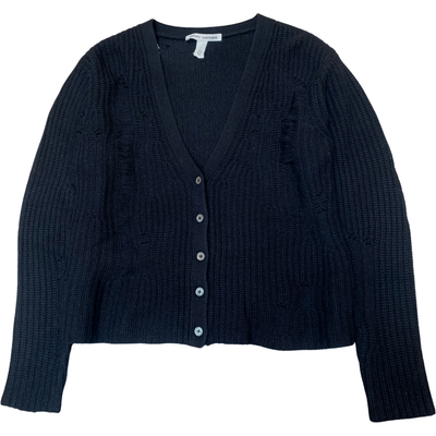 DISTRESSED SHAKER CARDIGAN - AUTUMN CASHMERE