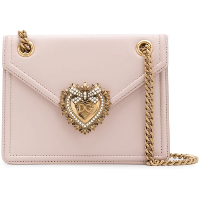 DOLCE & GABBANA LX LIVE DOLCE & GABBANA MINI DEVOTION ON CHAIN STRAPS - BLUSH