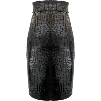 BROCHU WALKER SKIRT DREW CROC SKIRT