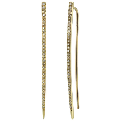 SHERYL LOWE DIAMOND EARRINGS GOLD SPIKE EARRINGS