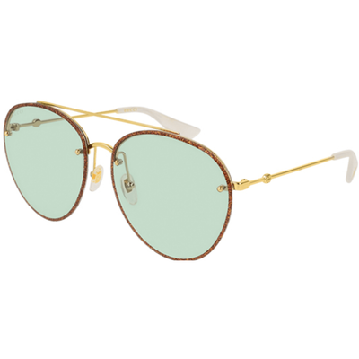 GUCCI CORE ROUND SKINNY SUNGLASSES