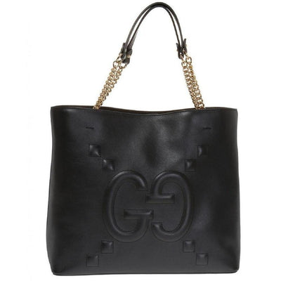 Gucci Embossed GG Apollo Double Top Handle Tote With Chain