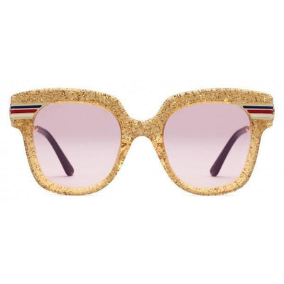 Gucci Gold Glitter Cat Eye Sunglasses
