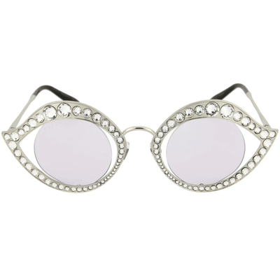 GUCCI SPECIAL EDITION CRYSTAL CAT EYE SUNGLASSES