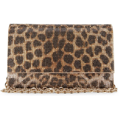 JUDITH LEIBER LX LIVE Judith Leiber Fizzoni Leopard Crystal Clutch