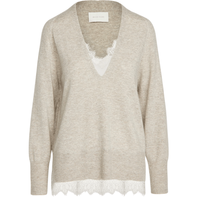 BROCHU WALKER SWEATER LACE VEE LOOKER PULLOVER - BROCHU WALKER