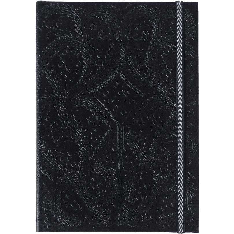 CHRISTIAN LACROIX NOTEBOOK BLACK LACROIX B5 PASEO NOTEBOOK