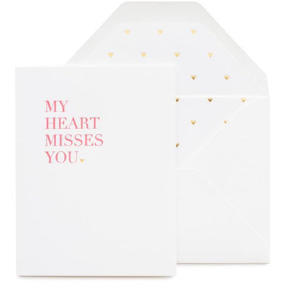 SUGAR PAPER CARDS MY HEART MISSES YOU CARD