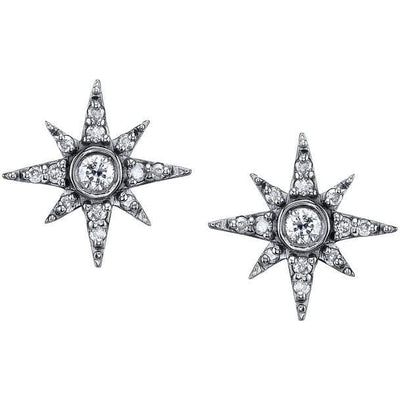 SHERYL LOWE DIAMOND EARRINGS NORTH STAR EARRINGS