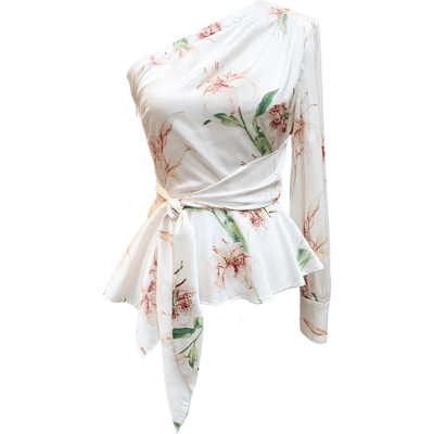 SANTORELLI BLOUSE One Shoulder Lily Top
