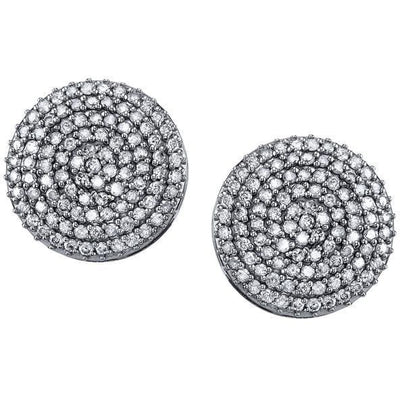 SHERYL LOWE DIAMOND EARRINGS OVERSIZED DIAMOND DISK EARRINGS