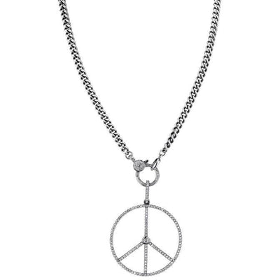 SHERYL LOWE DIAMOND NECKLACE PEACE CHAIN NECKLACE