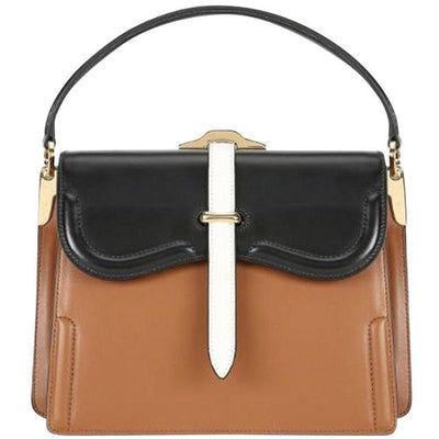PRADA LX LIVE PRADA BELLE SHOULDER BAG - COGNAC
