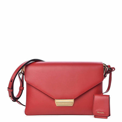 PRADA LX LIVE PRADA INGRID SHOULDER BAG - RED