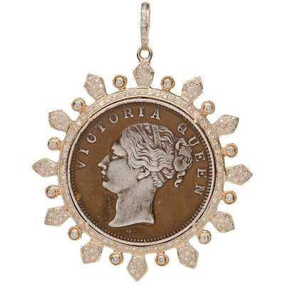 QUEEN VICTORIA COIN PENDANT GOLD