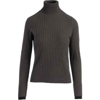 Ribbed Cashmere Turtleneck - Olive Agave - Shop Marcus