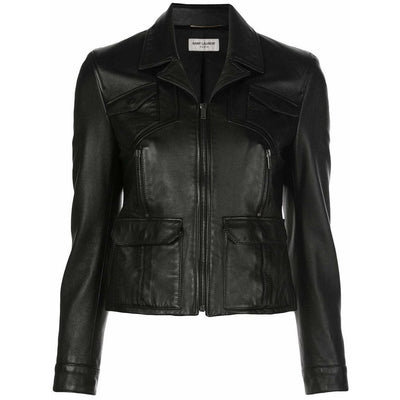 Saint Laurent Zip Leather Jacket