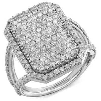 SHERYL LOWE DIAMOND RING SHIELD RING