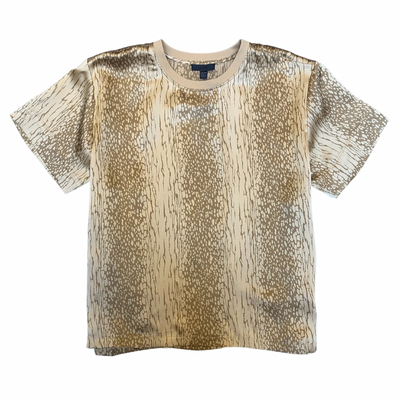 LNA BLOUSE SILK CHARMEUSE BOY TEE