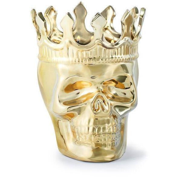 INSTORE INSTA Skull Candle - Gold