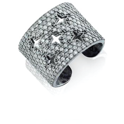 SHERYL LOWE DIAMOND RING STAR CUFF RING