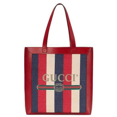 Gucci LX LIVE SYLVIE BAIADERA RED LEATHER TOTE